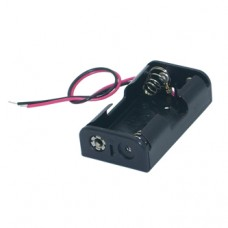 BATTERY HOLDER - 2xAA - 150mm LEADS
