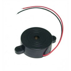 BUZZER 3-12V ROUND C/W LEADS & MOUNTING HOLES