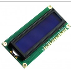 LCD 16X2 HD44780 PARALLEL INTERFACE WHITE LETTERS ON BLUE BACKGROUND