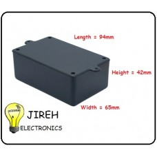 Plastic Enclosure Black 95 x 65 x 42mm
