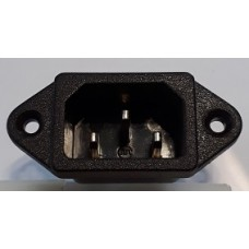 PANEL MOUNT IEC CONNECTOR - MALE C14