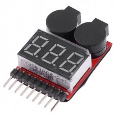 LI-ION BATTERY VOLTAGE TESTER / ALARM 1 - 8 Cells